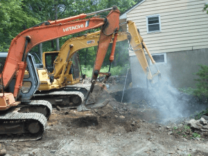 Septic Install with Rock Hammer - Highland Lakes NJ